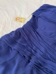 Vestido azul de musseline TAM 44/M