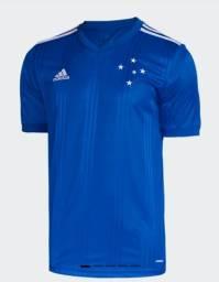 Camisa Futebol Cruzeiro Esporte Clube Azul e Branca Nova