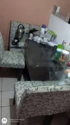 Mesa de vidro 6 cadeira!