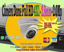 Câmera Dome Full HD 2.8mm - 4X1 - 2.0
