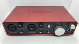 Interface Focusrite Scarlett 2i2 (aceito trocas)