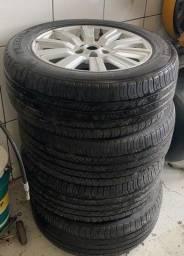 Vendo jogo de rodas aro 19 com pneus michellin