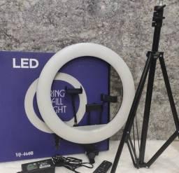 Iluminador Led Ring Light Grande 46cm 18 Polegadas + Tripé