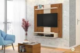 """Painel Home suspenso para TV 47"""" Smart Rústico Terrara / Off White"""