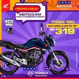 Titan 160 no Consórcio Honda