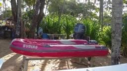 Bote Inflavel Zefir 3,60 Com Motor Yamaha 15hp