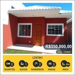 Título do anúncio: Casa com 3 quartos, 85 m², à venda por R$ 350.000