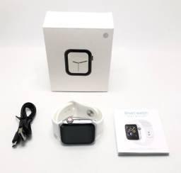 Relógio Smartwatch Inteligente W34 Branco Tamanho 44mm Bluetooth Novo na Caixa