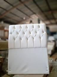 Cabeceira Bremol  90 cm corino branco