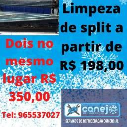 Limpeza de split R$ 198,00