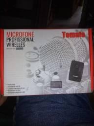 Microfone sem fio profissional Wirelles Tomate