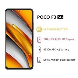 Xiaomi POCO F3 - 8GB RAM / 256 GB Armazenamento + Película de vidro Novo caixa
