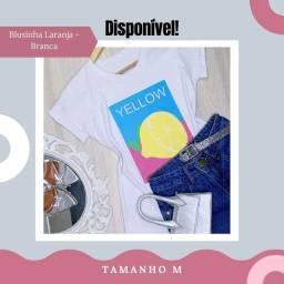 Camiseta/T-shirt 100% algodão Yellow (M)