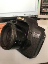 Canon 7d + lente Yongnuo + Cartão 16 Gb