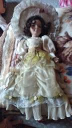 Boneca porcelana pra colecionador