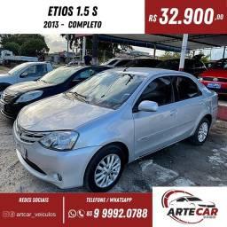 Título do anúncio: Toyota Etios sedan 1.5 2013 completo !!