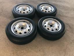 Jogo de rodas com pneus Strada aro 14