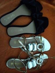 Dois pares de calçados feminino Tam 36 via uno