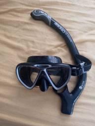 Kit mergulho mascara + snorkel cressi