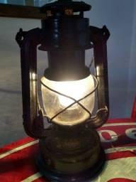 Lampião elétrico artesanal