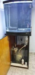 Aquario Curvo Boyu Tl-550 Zumbo 128l Preto 110v