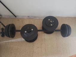 Kit de ferro  para musculação