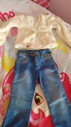 Bolero e calça jeans