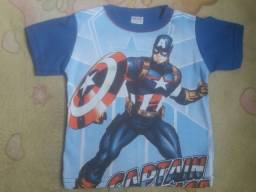 Camisa capitão América Tamanho 1