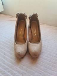 Sapato nude 36 vizzano