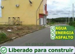 Localizado a 20min da Ponte Rio Negro - 12X25 (300m²) - Em Bairro Planejado - Ato 733,19