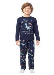 Pijama Infantil Menino Em Moletinho Brandili