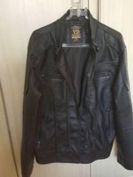 Jaqueta masculina couro ecológico cor preto