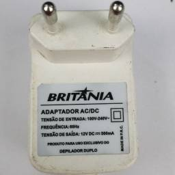 Carregador Adaptador Britânia Fonte Duplo 110220 - 12V-500