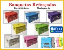 Banqueta Banco Dobrável Banquinho De Plástico Até 120 Kg