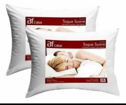 Travesseiro Fibra Siliconada Antialérgico Lavável 70x 50  cm