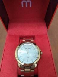 Relógio ouro Mondaine novo nunca usado
