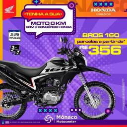 Bros 160 no Consórcio Honda MÔNACO