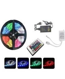Fita led + controle com 16 cores