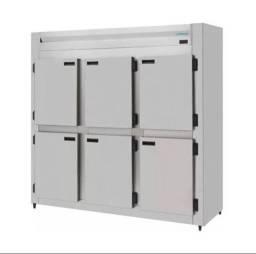 Mini Câmara Fria Industrial Inox 6 Portas 1290 Litros Kofisa *Ricardo