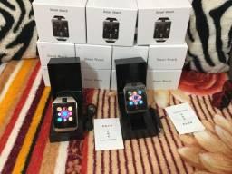 Relógio smart/ chip, cartão sd/câmera e Bluetooth