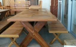 Mesa madeira de demolição | Mesa peroba rosa