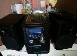 Micro System Philco c/USB,CD,Tape,Radio c/Controle semi Novo