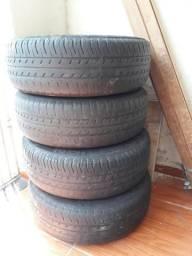 Jogo de roda de ferro aro 14 com pneus (furação 4x100)