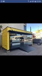 Container hamburgueria montada com equipamentos a partir