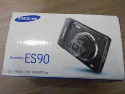 Camera digital samsung es90 14.2mp 5x zoom filma em hd