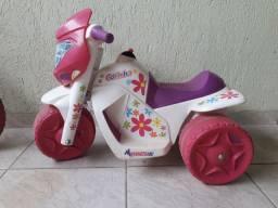 Moto elétrica infantil bandeirante menina