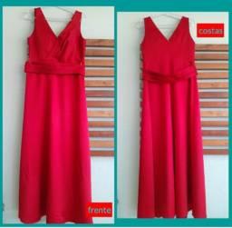 Vestido de festa na cor vermelha Tamanho 44