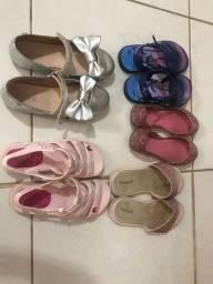 Sapato e sandalias para meninas, n. 29 e 30 - otimo estado.