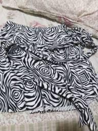 Saia rodada de zebra, tamanho M
