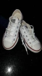 Tênis All Star Converse em couro branco, Numero 29